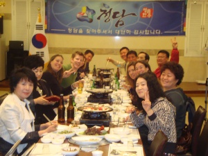 It's peace and love around the bulgogi table