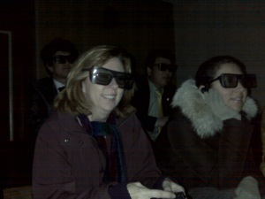 Denny and Ana learn about prehistoric life in 3-D